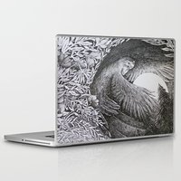 sun and moon Laptop & iPad Skins featuring Sun & Moon by Isobelle Ouzman
