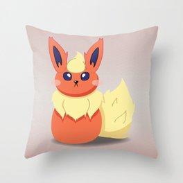Evolution Bobbles - Flareon Throw Pillow