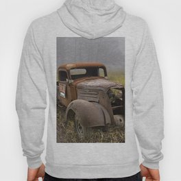 Vintage Chevy Pickup for Sale in a Field of Grass Hoody