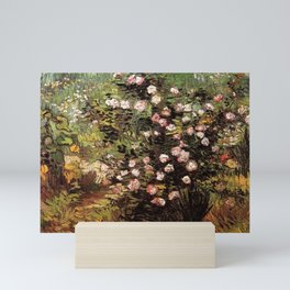 Rosebush in Blossom by Vincent van Gogh Mini Art Print