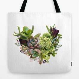Succulent heart Tote Bag