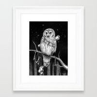hedwig Framed Art Prints featuring Hedwig by Tim Van Den Eynde