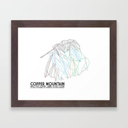 Copper Mountain, CO - Minimalist Trail Art Framed Art Print