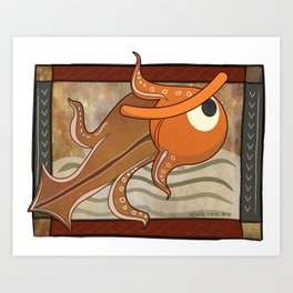 angry fish eye Art Print