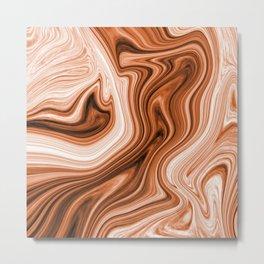 wood ripple marble Metal Print