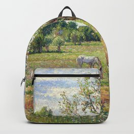 "Camille Pissarro ""Le pré avec cheval gris, Eragny""(""The meadow with gray horse, Eragny"") Backpack"