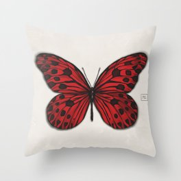 Red butterfly. Big butterfly. Insect Throw Pillow