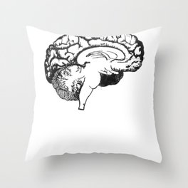 use your brain Throw Pillow