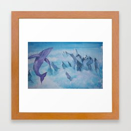 Impossible Whale Framed Art Print