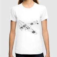 airplane T-shirts featuring Airplane diagram by marcusmelton