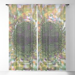 Plier - Multiplied views P of Alphabet collection Sheer Curtain