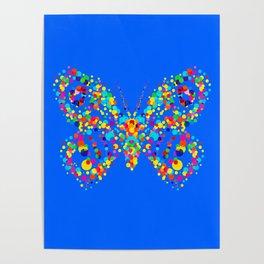 Dot pattern butterfly Poster