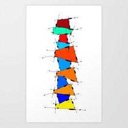 Sanomessia - melting cubes Art Print