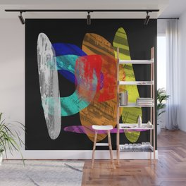 Pastel Pieces - Abstract, pastel artwork Wall Mural