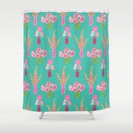 Flower Vases illustrated Pattern Shower Curtain