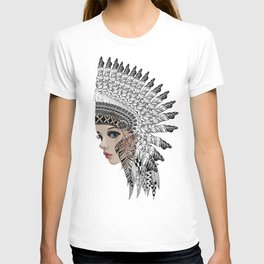 headdress drawing T-shirt