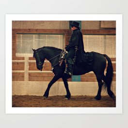 The Masked Bandit and His Horse Art Print