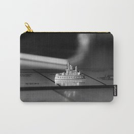 Monopoly Battleship Token in Black and White Carry-All Pouch