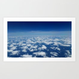 Floating on Clouds Art Print