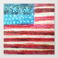 american flag Canvas Prints featuring American Flag by Brontosaurus
