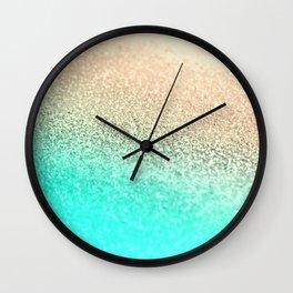 GOLD AQUA Wall Clock