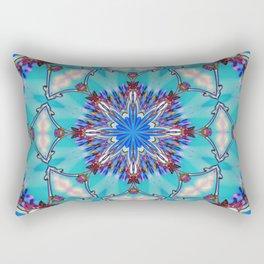 Eastern Redbud And The Bee Kaleidoscope Neon Rectangular Pillow