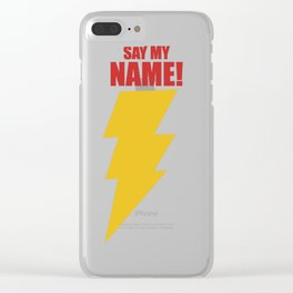 Shazam (Say My Name!) DC Comics Fan Art Clear iPhone Case
