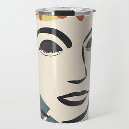 Abstract Face III Travel Mug
