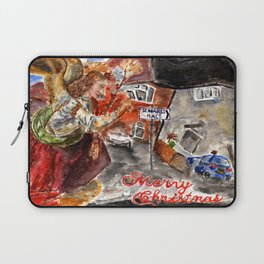 Angel Gabriel Merry Christmas Laptop Sleeve