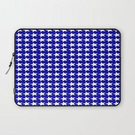 Blue White Stars Design Laptop Sleeve