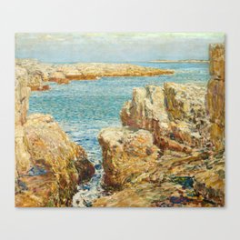 Coast Scene, Isles of Shoals Childe Hassam 1901 Canvas Print