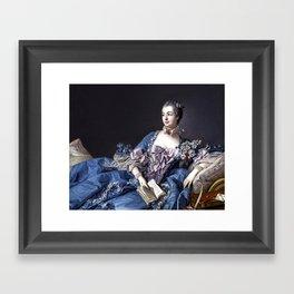 Madame De Pompadour Framed Art Print