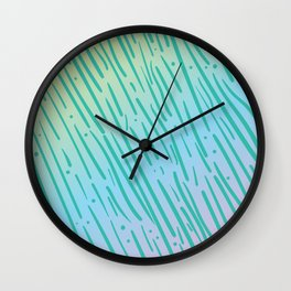 Rainbow Tiger Stripe Pattern - Inspired by the 90s Wall Clock
