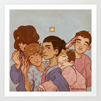 cargline Art Prints featuring kiss kiss fall in love by cargline