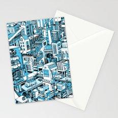 City Machine - Blue Stationery Cards