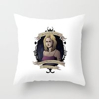 buffy Throw Pillows featuring Buffy - Buffy the Vampire Slayer by muin+staers