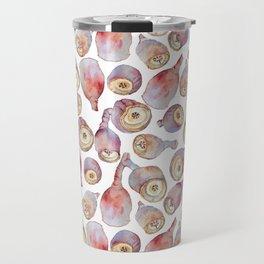 Gumnuts watercolour (white background) Travel Mug