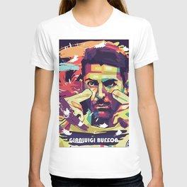 Gianluigi Buffon on WPAP Pop Art Portrait T-shirt