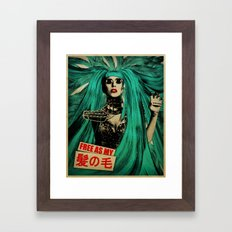 Free As My Hair Framed Art Print