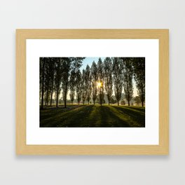 Penn State Sunrise Framed Art Print