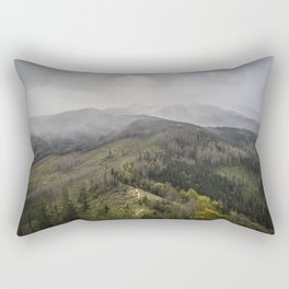 Mountains scenery from the peak Rectangular Pillow