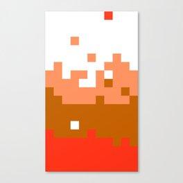 Mario (NES) pixel scramble Canvas Print