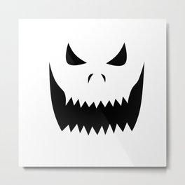 Scary Jack O'Lantern Face Metal Print