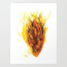 Bleeding Giraffe Heart Art Print
