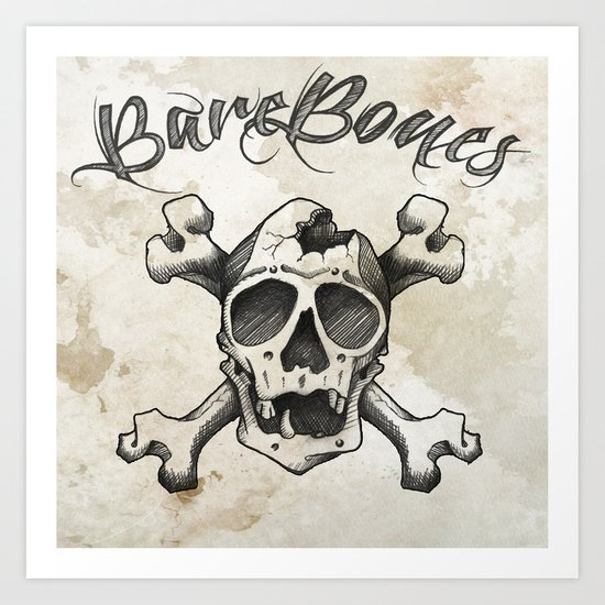 cross bones Art Print