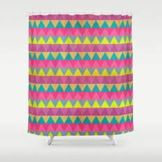 Colored Triangles Shower Curtain
