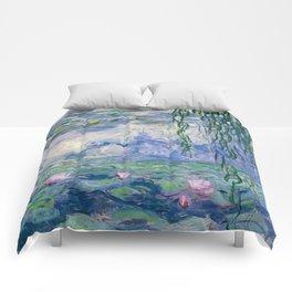 "Claude Monet ""Water Lilies(Nymphéas)"" (9) 1916–19.jpg Comforters"