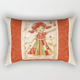 Choose Joy - Mixed Media Happiness Rectangular Pillow