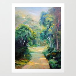 Caminho entre árvores (Path between the trees) Art Print