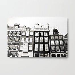 Traditional houses in Amsterdam, Netherlands. Metal Print